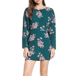 NWT LEITH Green & Purple Floral Mini Dress Small
